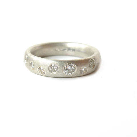 Handmade, unique, modern and contemporary eternity rings by Sue Lane, Herefordshire UK