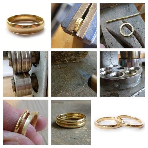 old vintage gold wedding rig remodeled into modern wedding ring
