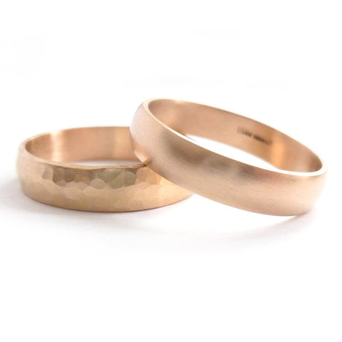 Traditional wedding ring / band handmade by Sue Lane in Hereford, Herefordshire.