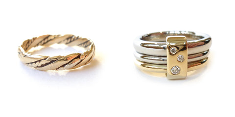 Recycled, up-cycled, remodelled gold ring