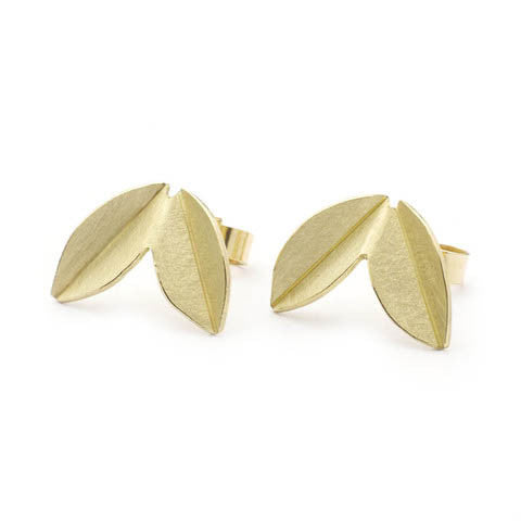 18k gold earrings (neg04) - Sue Lane Contemporary Jewellery