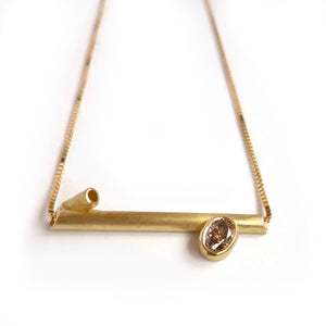 18ct Gold and Champagne Diamond Necklace