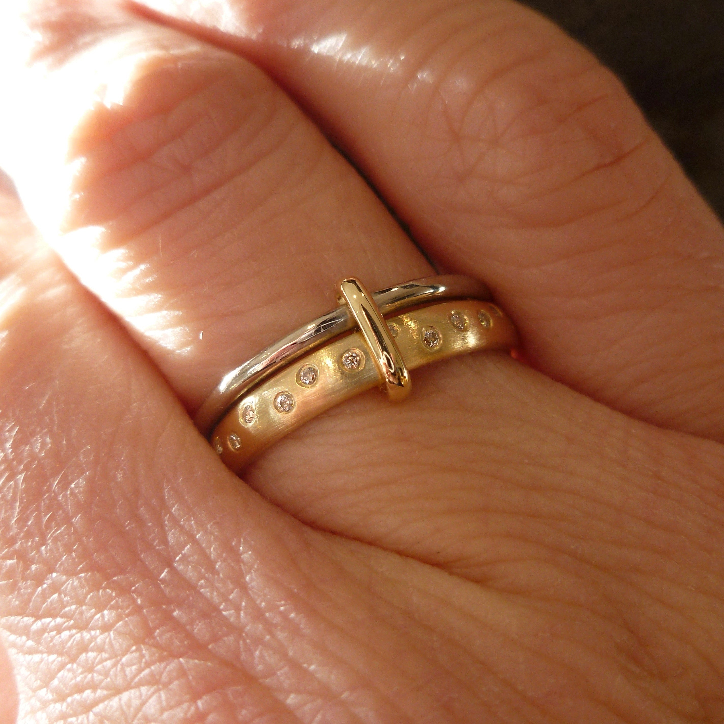 artemer products hand geometric on band dainty pattern rings everyday ring gold wedding
