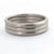 Contemporary modern wedding ring for men or women 18ct white gold