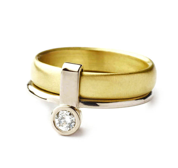 18k Gold and Diamond Ring (nrg4double)
