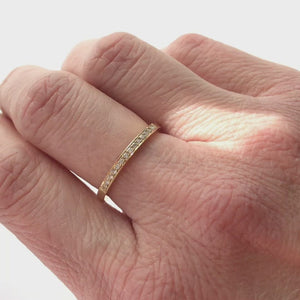Contemporary, unique, bespoke eternity, wedding band or stacking ring