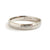 Contemporary, modern and bespoke hammered white gold wedding ring by designer maker Sue Lane Jewellery. Perfect wedding ring for men or women.