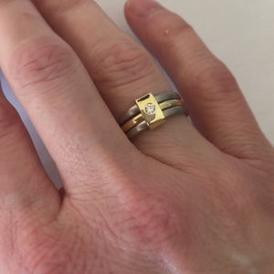 Contemporary jewellery, handmade, modern, bespoke ring by Sue Lane