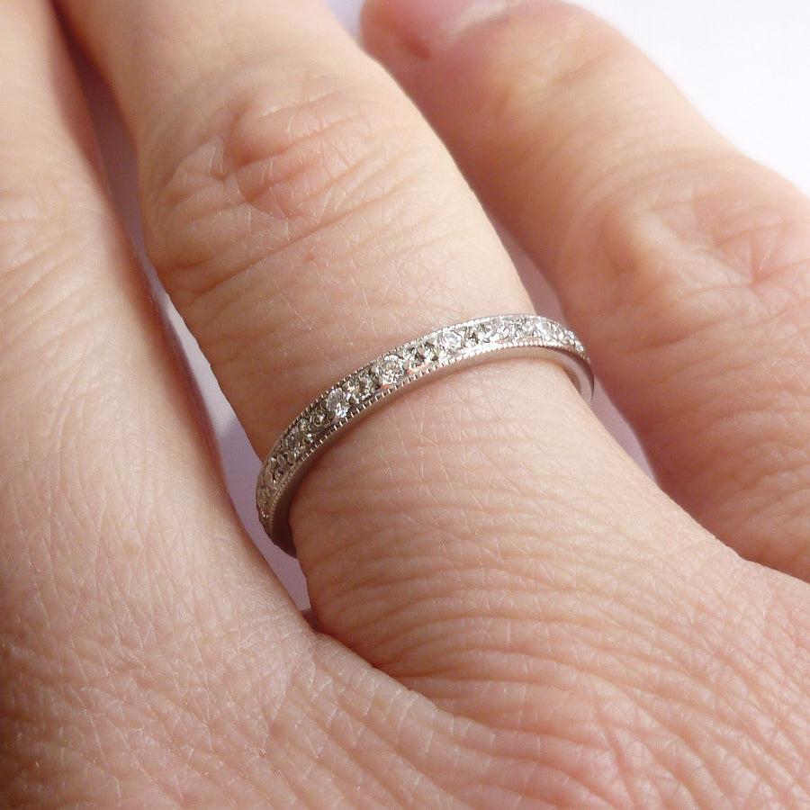 Platinum and Diamond Ring (plr9) - Sue Lane Contemporary Jewellery - 1