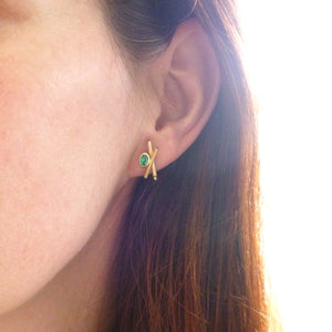 Contemporary jewellery gold bespoke handmade earrings to commission