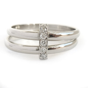 Multi band ring or interlocking ring, sometimes called double band ring too.