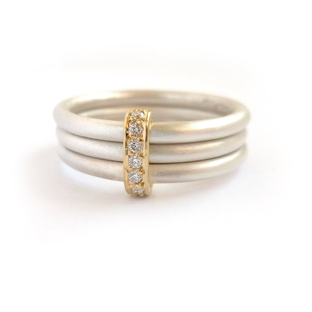 Silver and Gold Ring Handmade