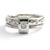 Platinum and diamond two band ring - modern, unique, contemporary