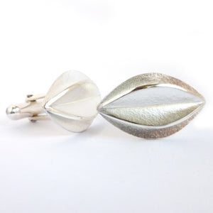 Contemporary, unique and bespoke silver cufflinks - handmade & modern