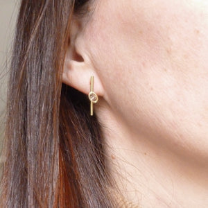 Contemporary jewellery earrings gold diamond bespoke handmade