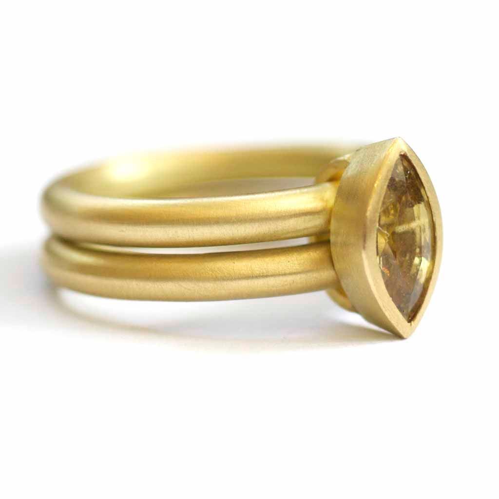 SOLD: 18k Gold and Sapphire Ring (OF04) - Sue Lane Contemporary Jewellery - 3
