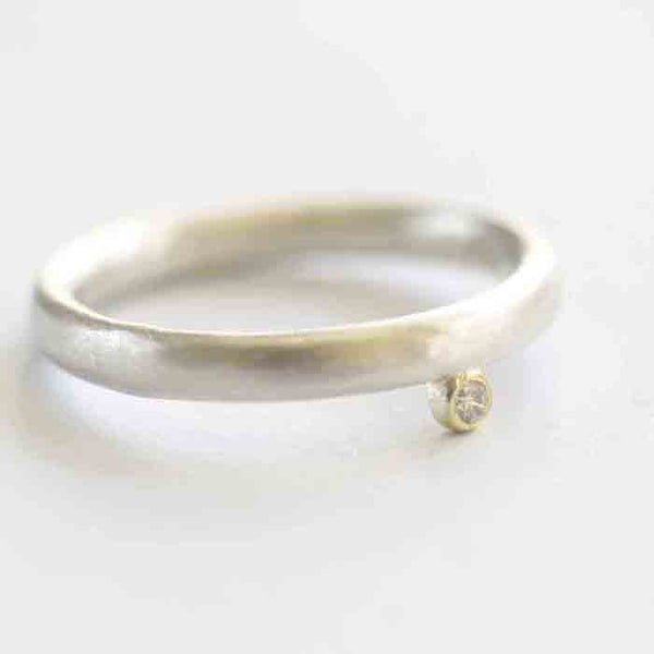 Silver and Diamond Ring (nr4s) - Sue Lane Contemporary Jewellery - 1