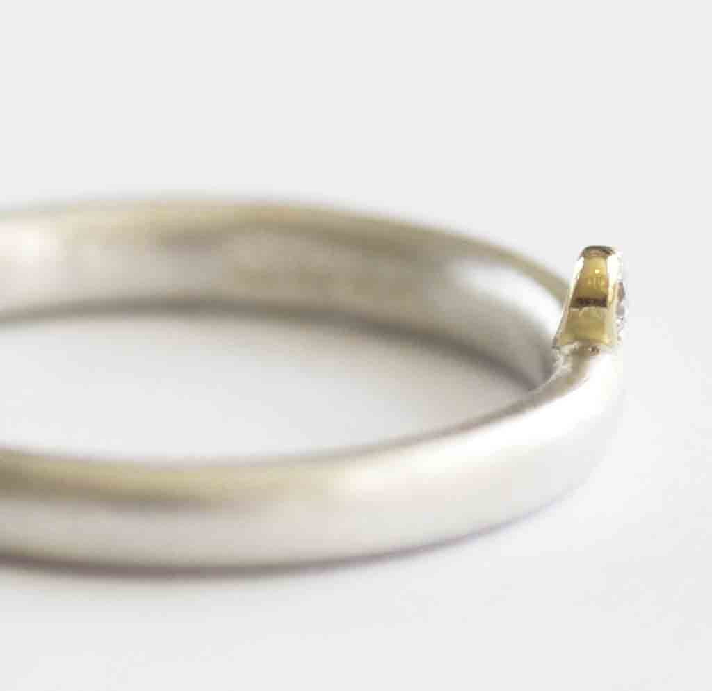 Silver and Diamond Ring (nr4s) - Sue Lane Contemporary Jewellery - 4