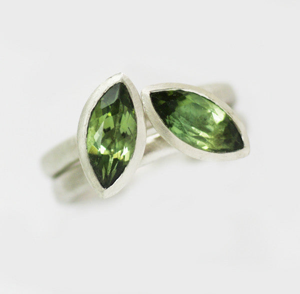Silver and green touramaline ring (rspo2) - Sue Lane Contemporary Jewellery - 1