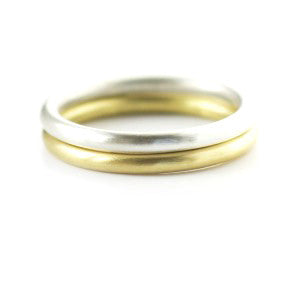 Contemporary, bespoke and modern delicate silver ring, matt brushed finish. Perfect for stacking or wedding ring. Handmade by Sue Lane in Herefordshire, UK