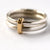 Silver and 18k gold ring (new01) - Sue Lane Contemporary Jewellery - 1