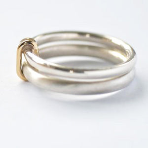 Silver and 18k gold ring (new01) - Sue Lane Contemporary Jewellery - 2