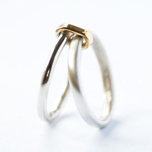 Silver and 18k gold ring (new01) - Sue Lane Contemporary Jewellery - 4