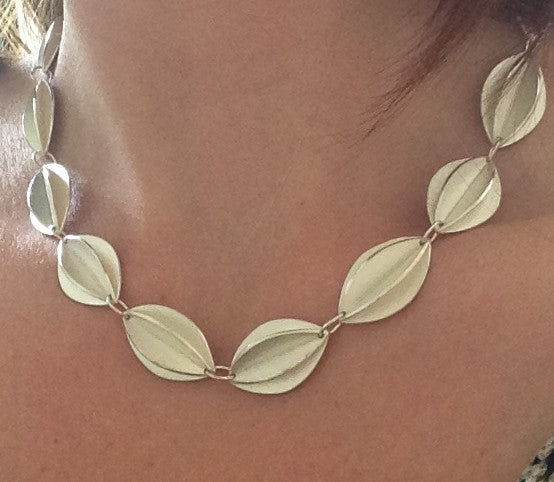 Silver Fold Necklace (fdsn12) - Sue Lane Contemporary Jewellery - 4