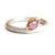 Contemporary, unique, bespoke and modern pink sapphire stacking ring, matt brushed finish. Handmade by Sue Lane in Herefordshire, UK. Perfect for engagement!
