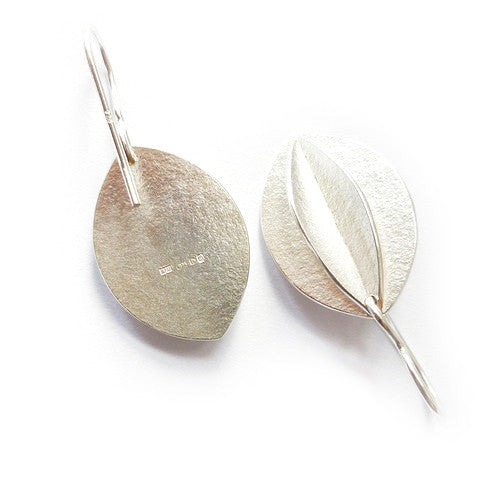 Medium Silver Fold Earrings (fd-02) - Sue Lane Contemporary Jewellery - 4