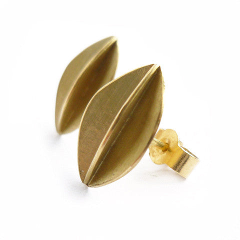 18k gold earrings (fdg-01) - Sue Lane Contemporary Jewellery - 3