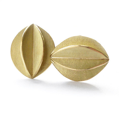 18k gold earrings (fdg-01) - Sue Lane Contemporary Jewellery - 1