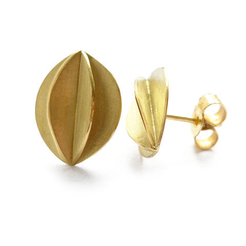18k gold earrings (fdg-01) - Sue Lane Contemporary Jewellery - 2