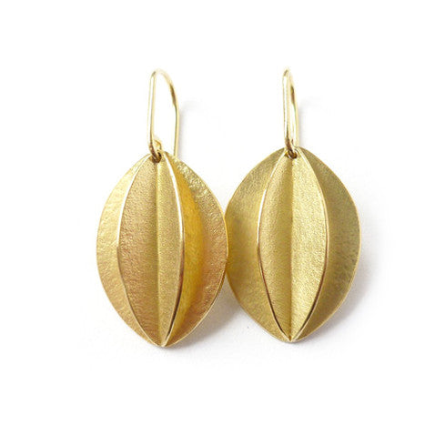 18k gold earrings (fdg-03) - Sue Lane Contemporary Jewellery - 2