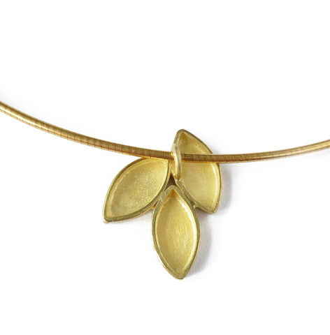 18k Gold Necklace (fdgn07) - Sue Lane Contemporary Jewellery - 3