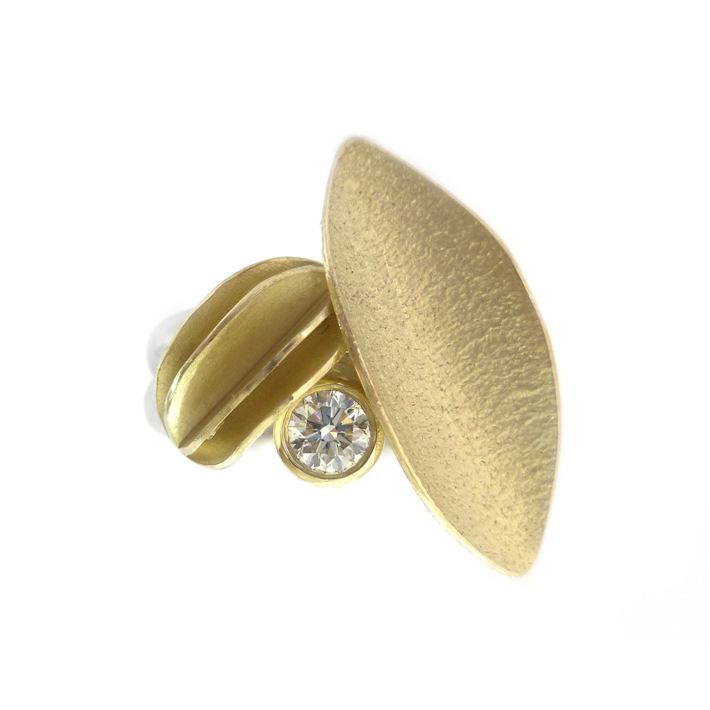 18k Gold and Diamond Ring (OF14) - Sue Lane Contemporary Jewellery - 1