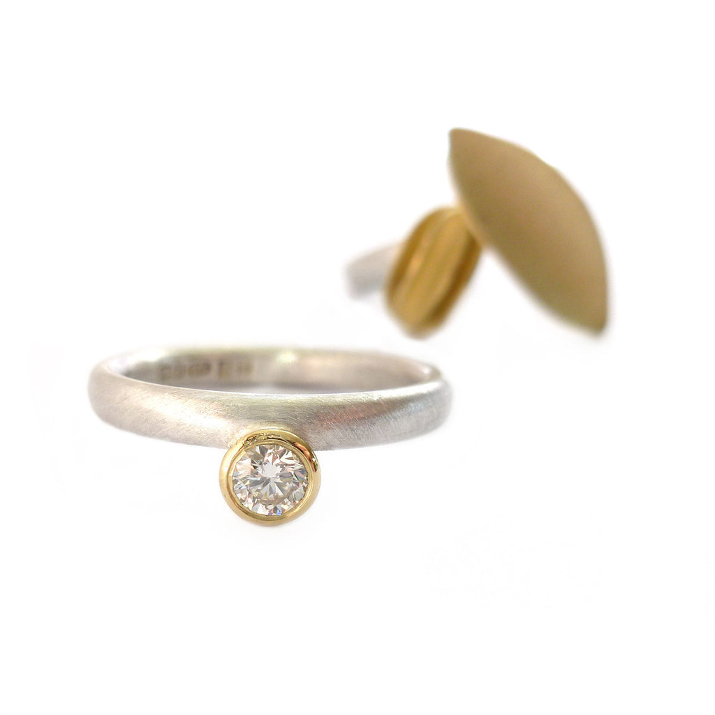 18k Gold and Diamond Ring (OF14) - Sue Lane Contemporary Jewellery - 3