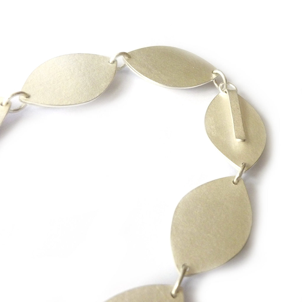Silver Fold Necklace (fdsn12) - Sue Lane Contemporary Jewellery - 2