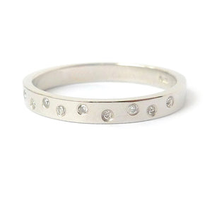 Usual, unique, bespoke and modern platinum and diamond wedding ring, eternity ring, engagement ring, Handmade by Sue Lane in Herefordshire, UK