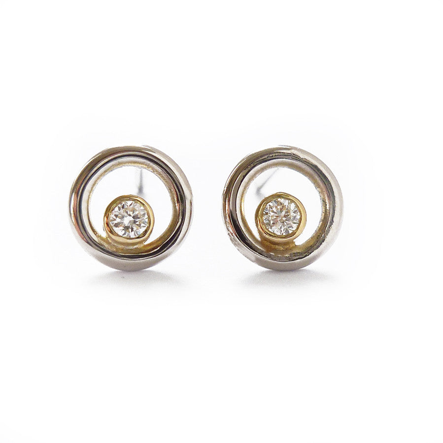 with earrings swarovski gold studded zirconia hallmarked shaped stud buy round online products