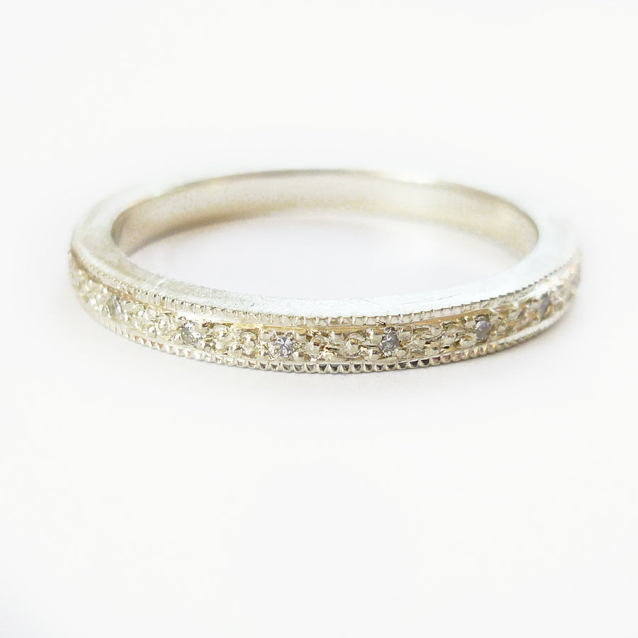 Silver and Diamond ring (spr02) - Sue Lane Contemporary Jewellery - 3