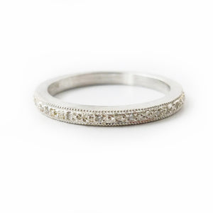 Silver and Diamond ring (spr02) - Sue Lane Contemporary Jewellery - 1