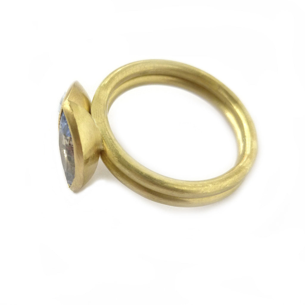 SOLD: 18k Gold and Sapphire Ring Set (OF34) - Sue Lane Contemporary Jewellery - 4