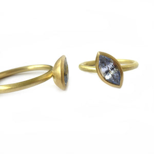 SOLD: 18k Gold and Sapphire Ring Set (OF34) - Sue Lane Contemporary Jewellery - 3