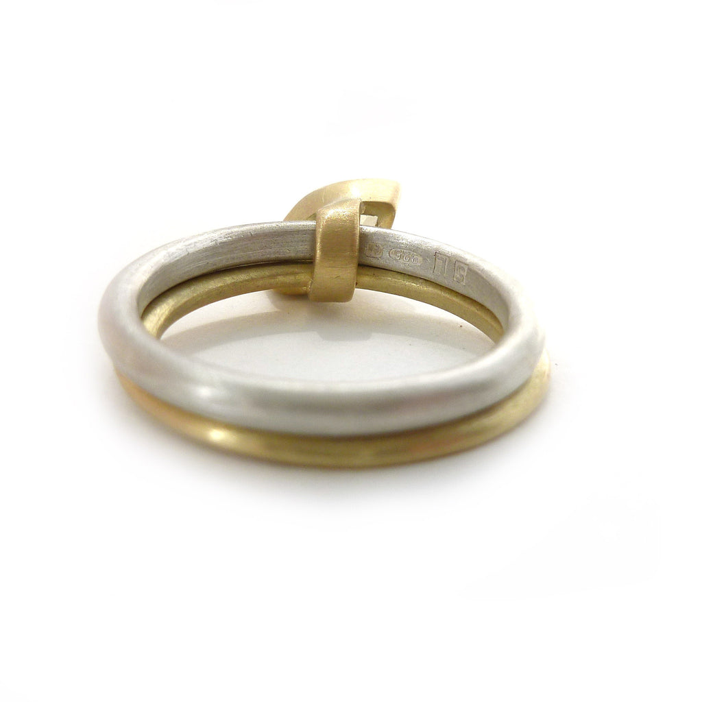 SOLD: Silver 18k Gold and Yellow Beryl Ring (OF12) - Sue Lane Contemporary Jewellery - 3