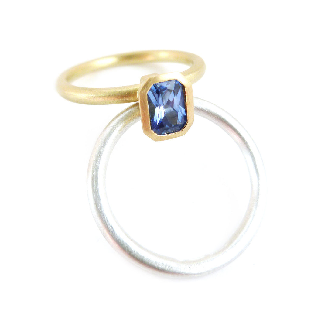 SOLD: 18k Gold and Sapphire Ring (OF13) - Sue Lane Contemporary Jewellery - 2