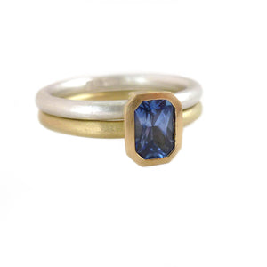 SOLD: 18k Gold and Sapphire Ring (OF13) - Sue Lane Contemporary Jewellery - 1