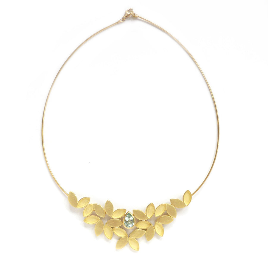 SOLD: 18k Gold and Aquamarine Necklace(OF17) - Sue Lane Contemporary Jewellery - 1
