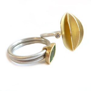 SOLD: 18k Gold and Mint Garnet Ring (OF15) - Sue Lane Contemporary Jewellery - 4