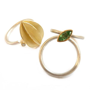SOLD: 18k Gold and Mint Garnet Ring (OF15) - Sue Lane Contemporary Jewellery - 3